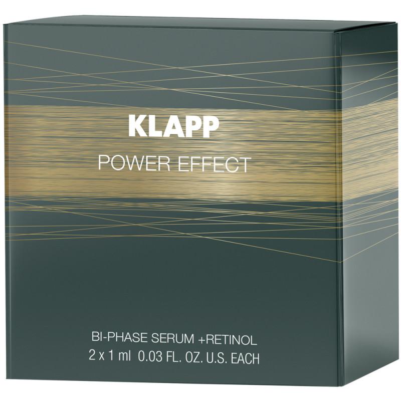 Klapp Cosmetics Power Effect Bi-Phase Serum + RETINOL 2 x 1 ml