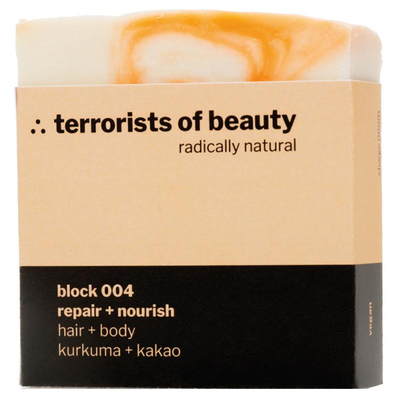 terrorists of beauty block 004 repair + nourish Seife 100 g