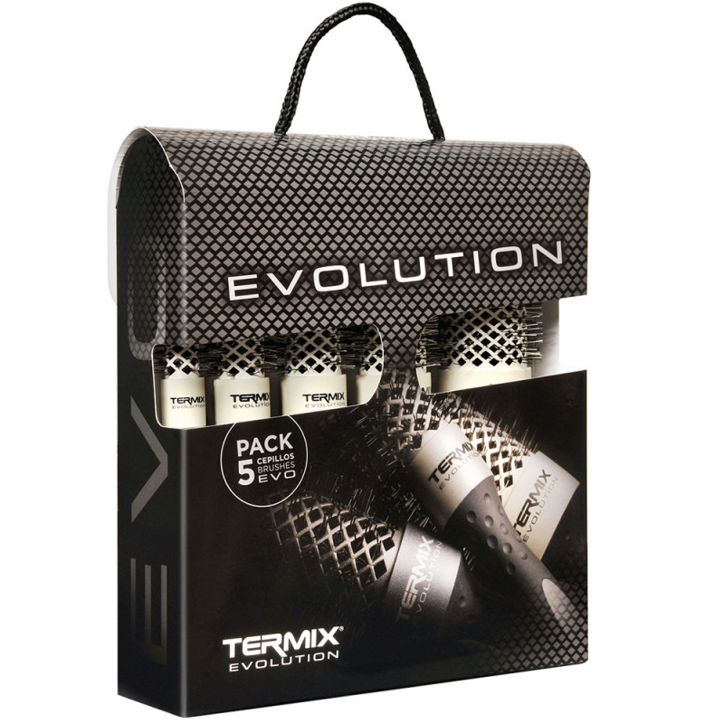 Termix Evolution Soft 5er-Pack Rundbürsten TX1024
