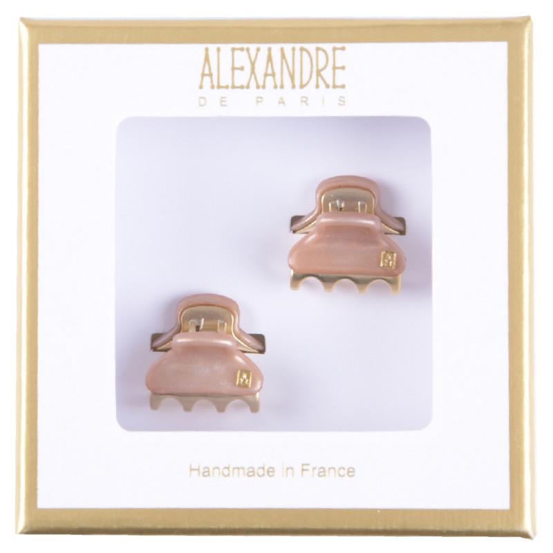 Alexandre de Paris  Pince Vendômes Micro Double Giftbox rose