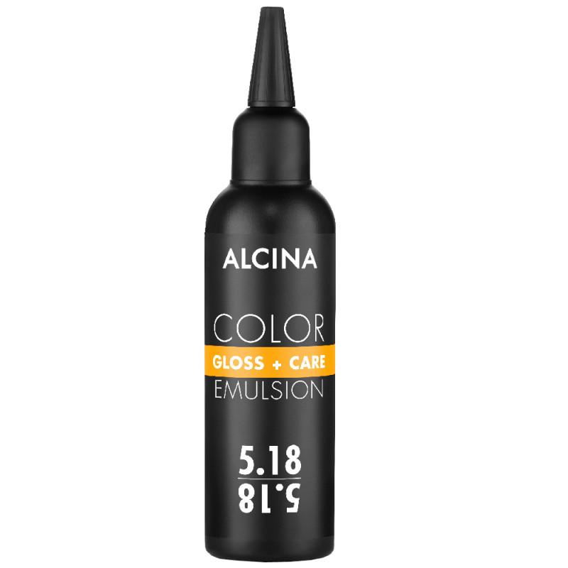 Alcina Color Gloss + Care Emulsion 5.18 hellbraun-asch-silber 100 ml
