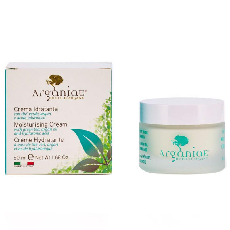 Arganiae Feuchtigkeitsspendende Creme natürliche Formel mit grünem Tee, Argan und Hyaluronsäure 50 ml