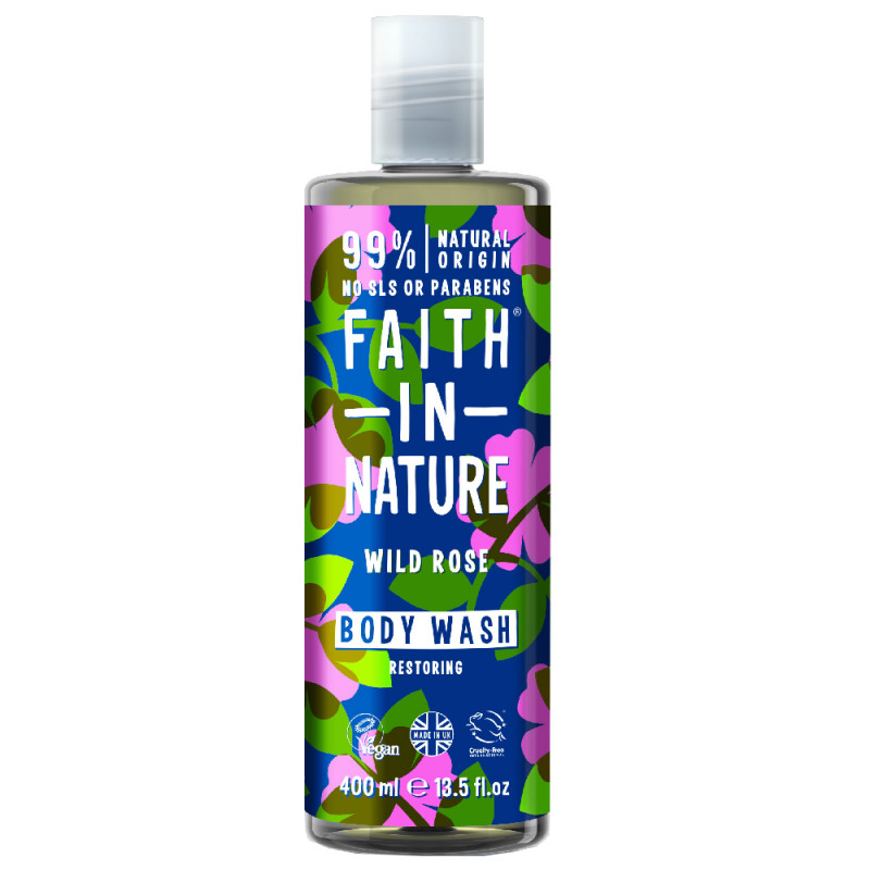 Faith in Nature Wild Rose Body Wash 400 ml