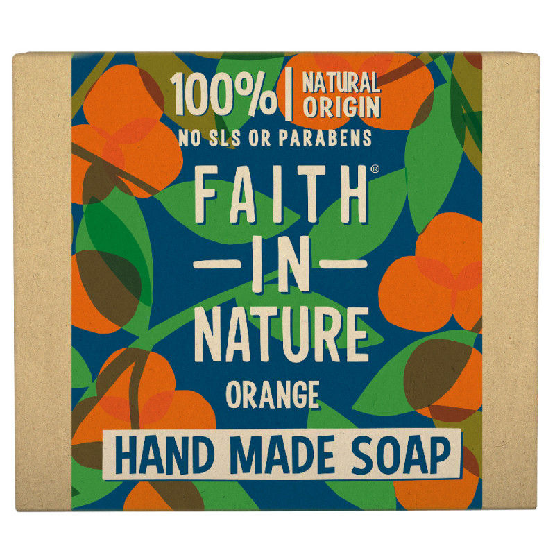 Faith in Nature Orange Hand Soap Bar 100 g