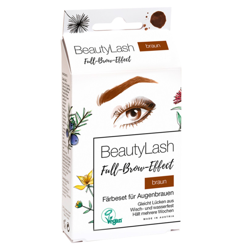 BeautyLash Färbeset Sensitiv Braun 7 ml