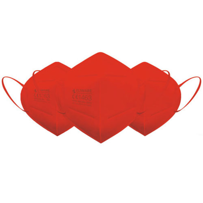 Eliware FFP2 Einweg Atemschutzmaske - rot 5 Stück