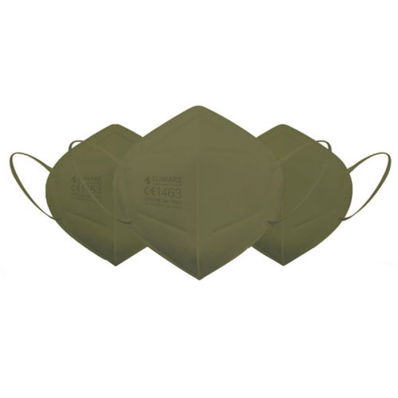 Eliware FFP2 Einweg Atemschutzmaske - grün 10 Stück